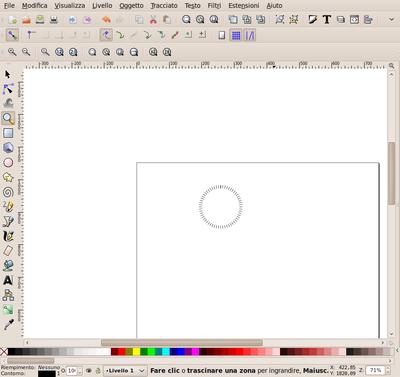 Inkscape creazione radiale quadrante