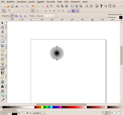 Inkscape tracciato clonato e ruotato