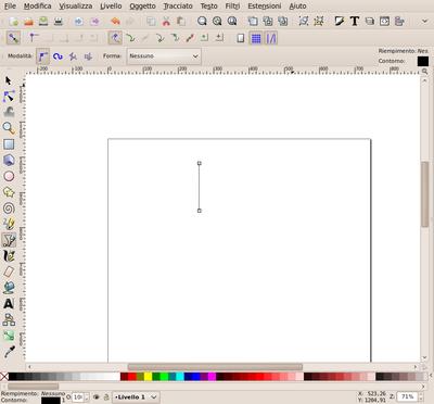 Inkscape tracciato con strumento Bezier